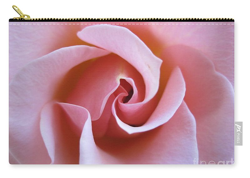 Floral Carry-all Pouch featuring the photograph Vivacious Pink Rose 5 by Tara Shalton