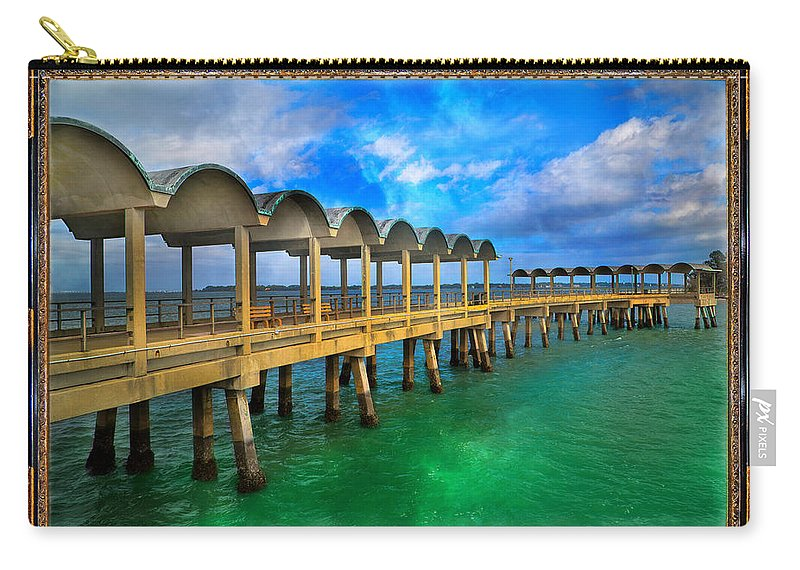 Jekyll Carry-all Pouch featuring the mixed media Vivid Calm by Betsy Knapp