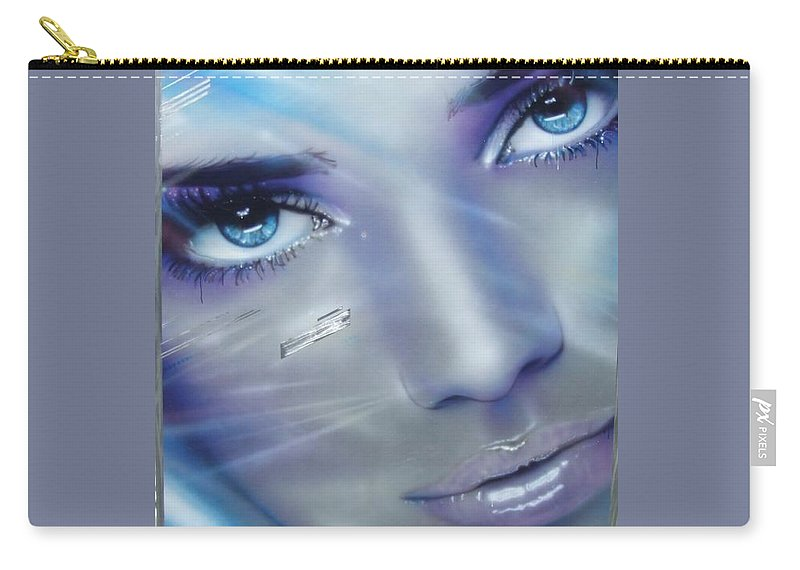 Portrait Carry-all Pouch featuring the painting Vogue by Christian Chapman Art