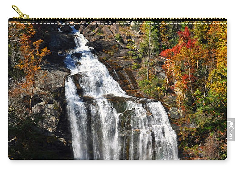 Whitewater Falls Carry-all Pouch featuring the photograph Voice Of Many Waters by Lydia Holly