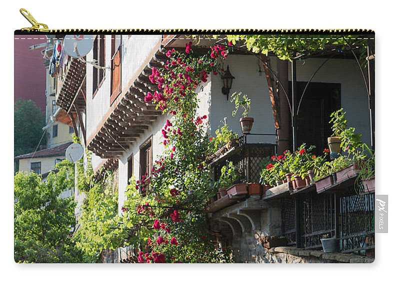 Bulgaria Carry-all Pouch featuring the photograph V. Turnovo Old City Street View - Bulgaria by Jivko Nakev