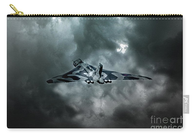 Vulcan Bomber Carry-all Pouch featuring the digital art Vulcan Storm by J Biggadike
