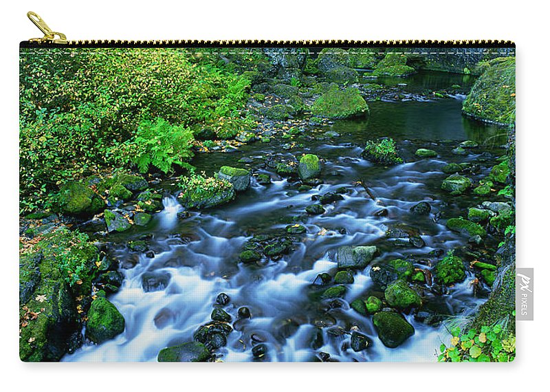 North America Carry-all Pouch featuring the photograph Wachlella Falls Columbia River Gorge National Scenic Area Oregon by Dave Welling