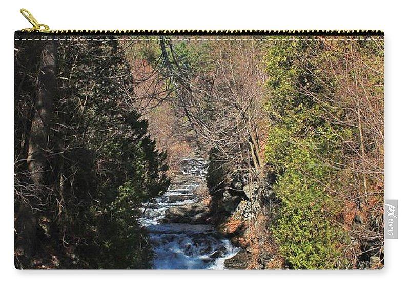 Wachusett Reservoir Carry-all Pouch featuring the photograph Wachusett Reservoir Spillway 2 by Michael Saunders