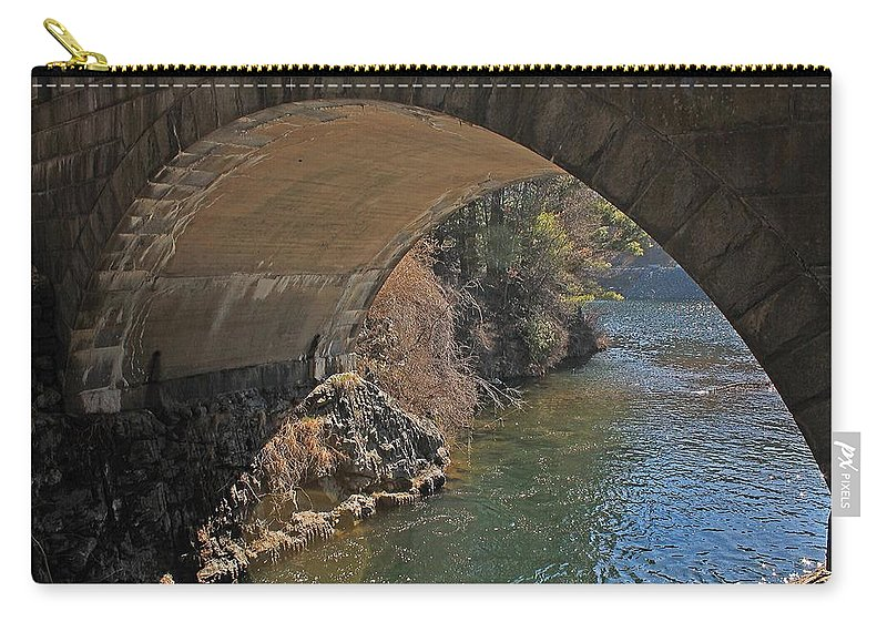 Wachusett Reservoir Carry-all Pouch featuring the photograph Wachusett Reservoir Spillway 3 by Michael Saunders