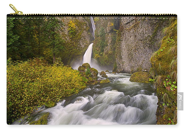 Columbia River Gorge Carry-all Pouch featuring the photograph Wahclella Falls by Patricia Davidson