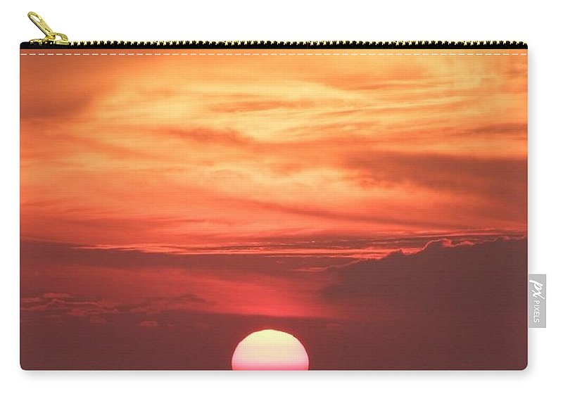 Mary Deal Carry-all Pouch featuring the photograph Waikiki Sunset No 2 by Mary Deal