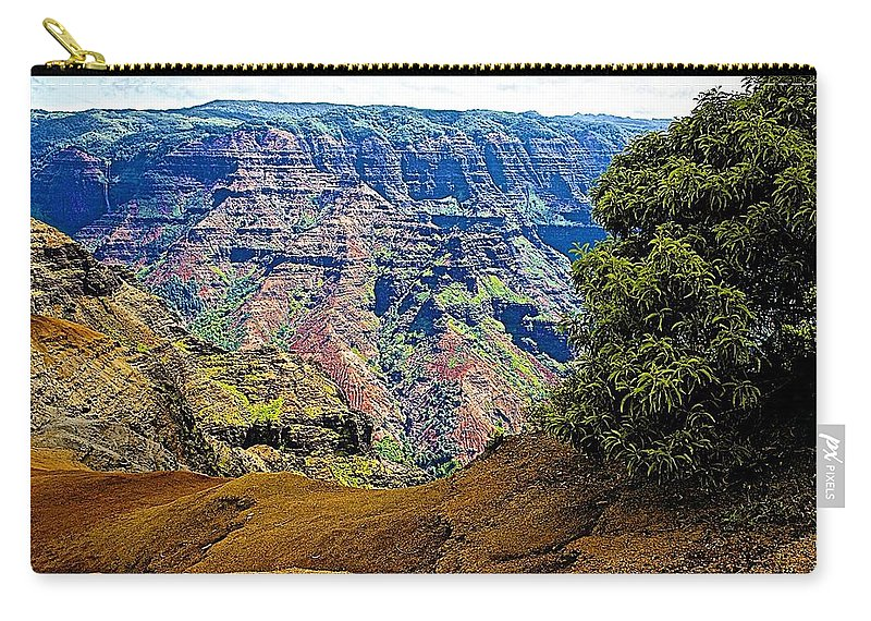 Canyon Carry-all Pouch featuring the photograph Waimea Canyon - Kauai by Barbara Zahno