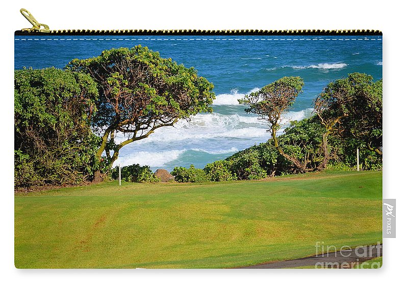Golf Carry-all Pouch featuring the photograph Wailua Golf Course - Hole 17 - 2 by Mary Deal