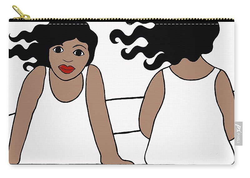 Women Carry-all Pouch featuring the painting Waiting 1 by Trudie Canwood