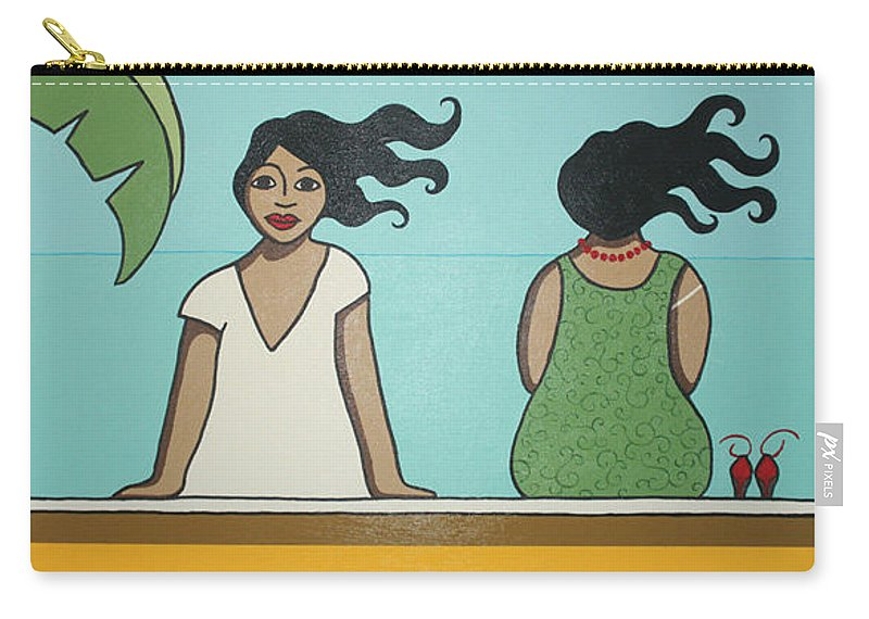 Women Carry-all Pouch featuring the painting Waiting 2 by Trudie Canwood
