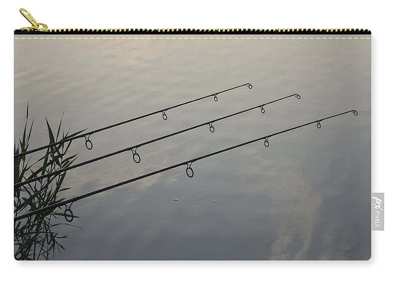 Fishing Carry-all Pouch featuring the photograph Waiting by David Pyatt