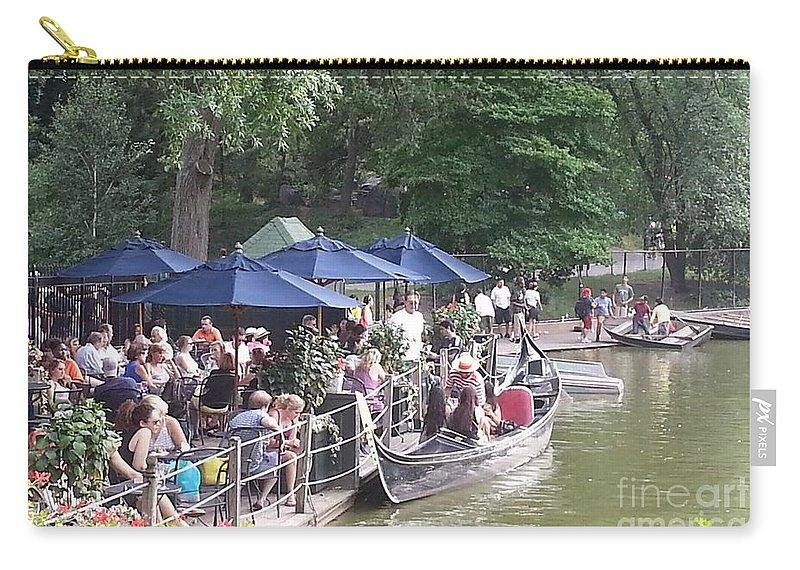 Central Park Carry-all Pouch featuring the photograph Waiting For A Ride by Christy Gendalia