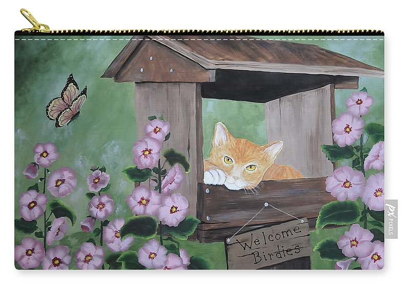 Kenny Francis Carry-all Pouch featuring the painting Waiting For Lunch by Kenny Francis