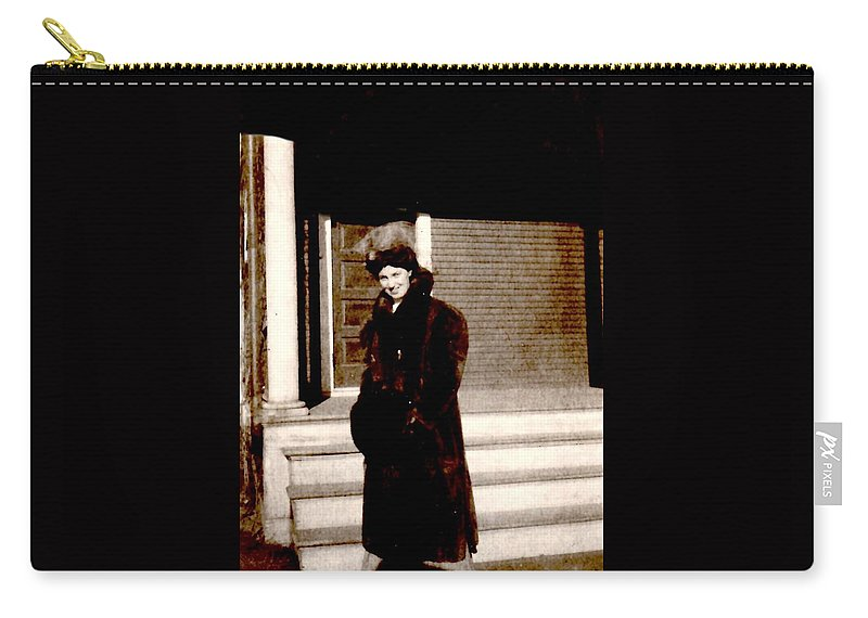 Vintage Carry-all Pouch featuring the photograph Waiting For My Driver by Image Takers Photography LLC