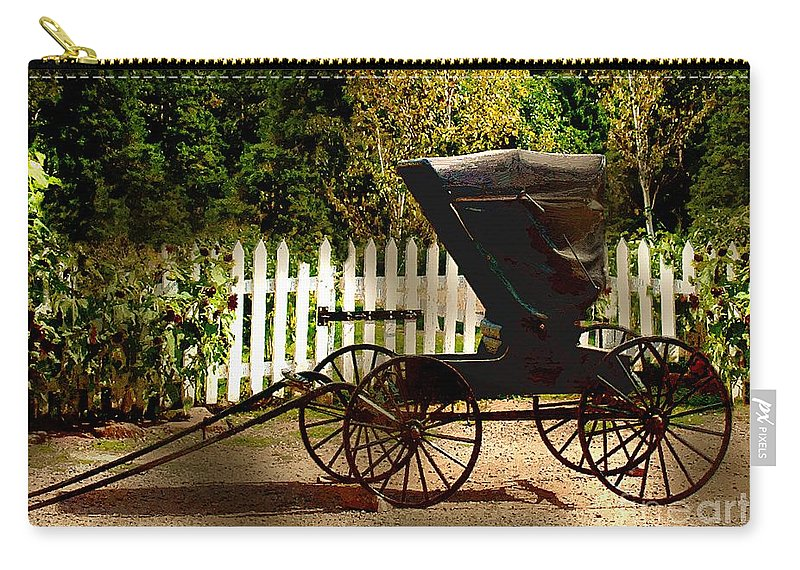 Amish Carry-all Pouch featuring the painting Waiting For The Mare by RC DeWinter