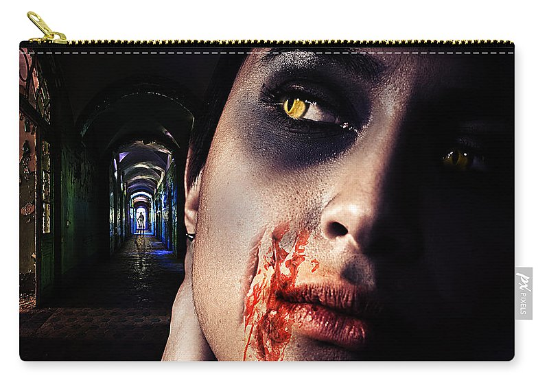 Antique Carry-all Pouch featuring the digital art Waiting For You by Nathan Wright