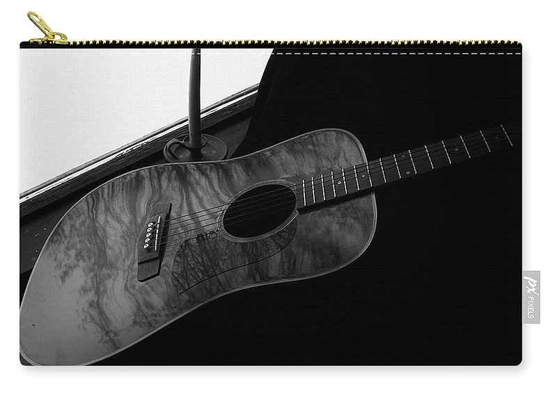 Guitar Carry-all Pouch featuring the photograph Waiting In The Window by Barbara St Jean