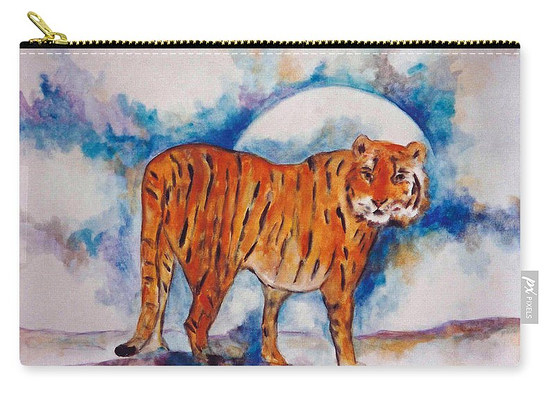 Moon Carry-all Pouch featuring the painting Waiting On The Moon by Lord Frederick Lyle Morris - Disabled Veteran