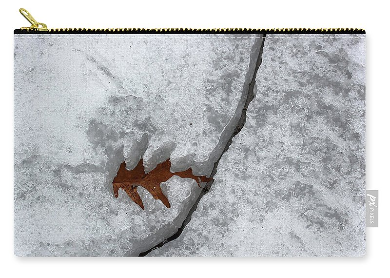 Leaf Carry-all Pouch featuring the photograph Waiting To Be Free 1 by Mary Bedy