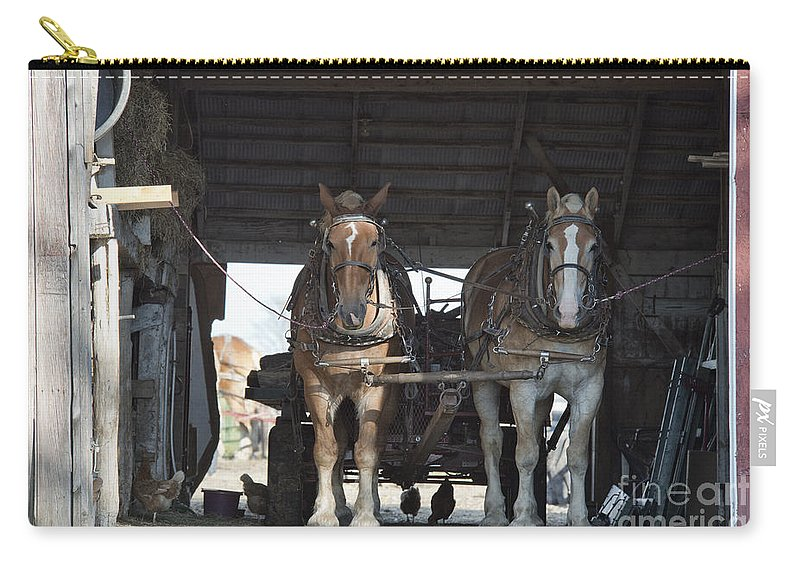 Work Carry-all Pouch featuring the photograph Waiting To Work by David Arment