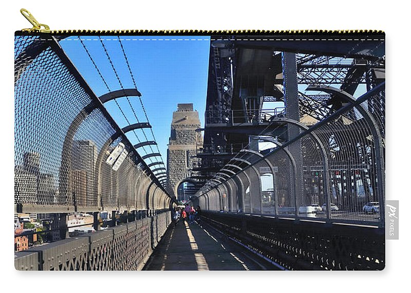 Photography Carry-all Pouch featuring the photograph Walk Across Sydney Harbour Bridge by Kaye Menner
