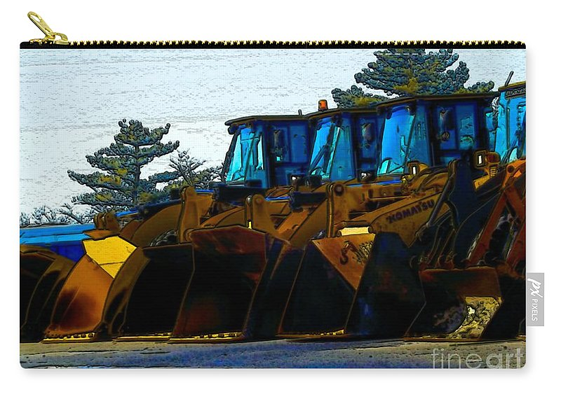 Plows Carry-all Pouch featuring the photograph Walk The Line by Robyn King