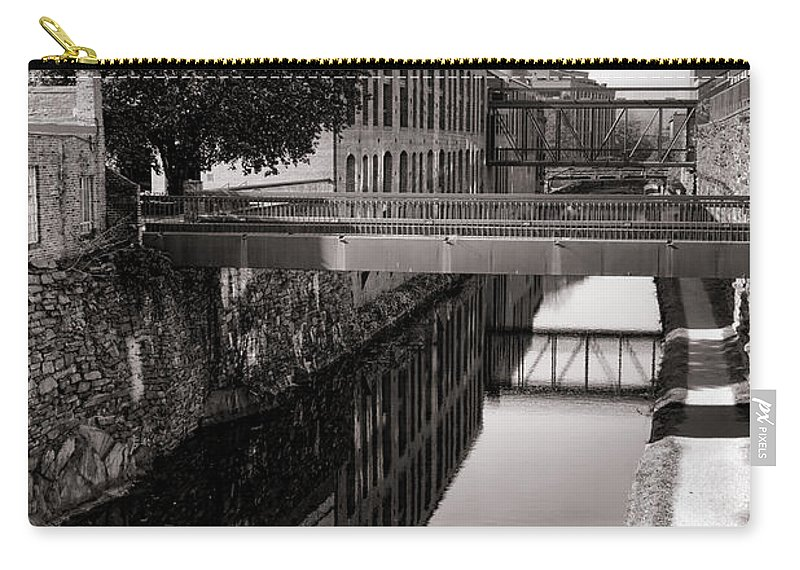 Georgetown Carry-all Pouch featuring the photograph Walking Along The C And O by Olivier Le Queinec
