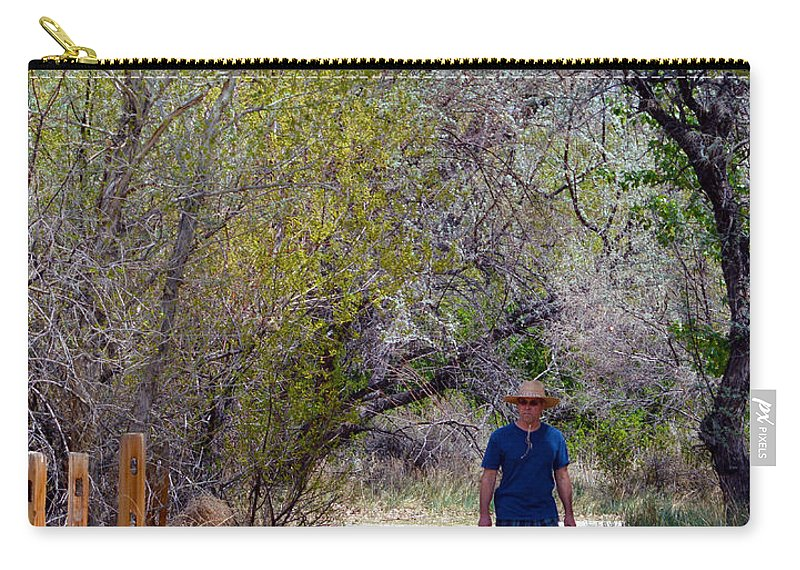 Dad Carry-all Pouch featuring the photograph Walking by Brent Dolliver