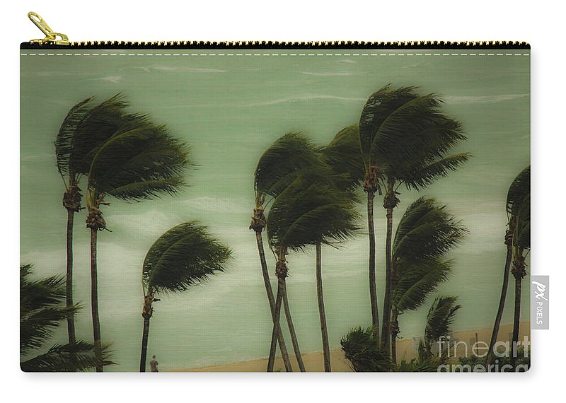 Wind Carry-all Pouch featuring the photograph Walking In The Wind by Rene Triay Photography