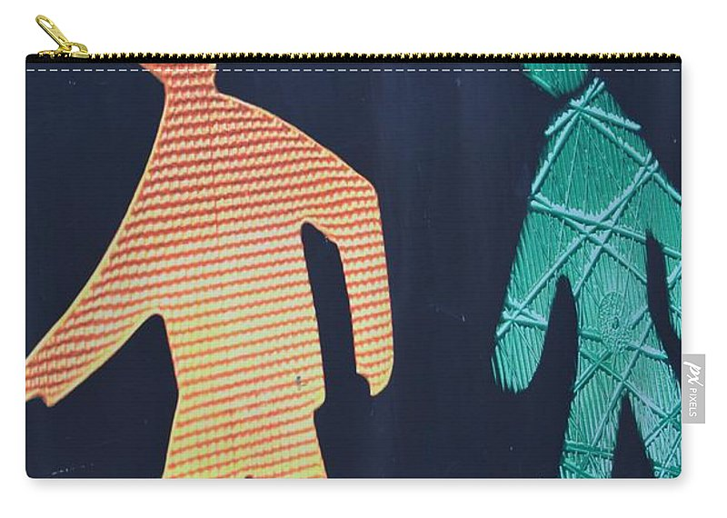Canvasart Carry-all Pouch featuring the photograph Walking Man Symbol by Sonali Gangane