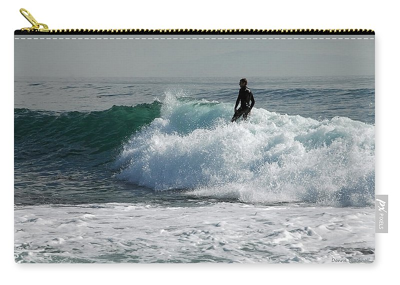 Surf Carry-all Pouch featuring the photograph Walking On Water by Donna Blackhall