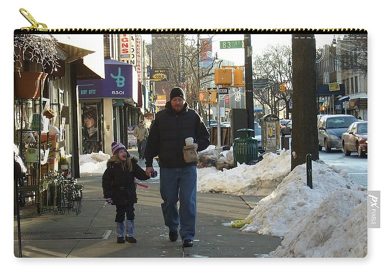 Carry-all Pouch featuring the photograph Walking With Dad by Katerina Naumenko