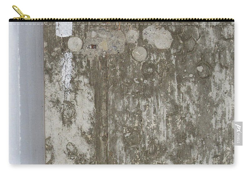 Wall Carry-all Pouch featuring the photograph Wall Abstract 20 by Mary Bedy