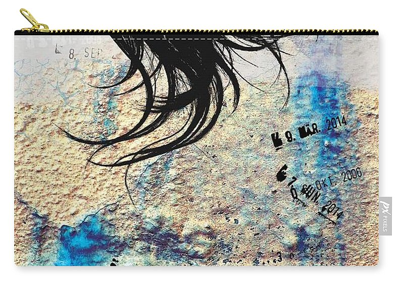 Digital Carry-all Pouch featuring the digital art Wall by Ana Milosavljevic