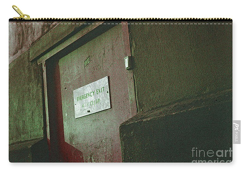 Wall Exterior still Life Perspective War Urban City London Peckham Expressionist Carry-all Pouch featuring the photograph Wall by Neil Pollick