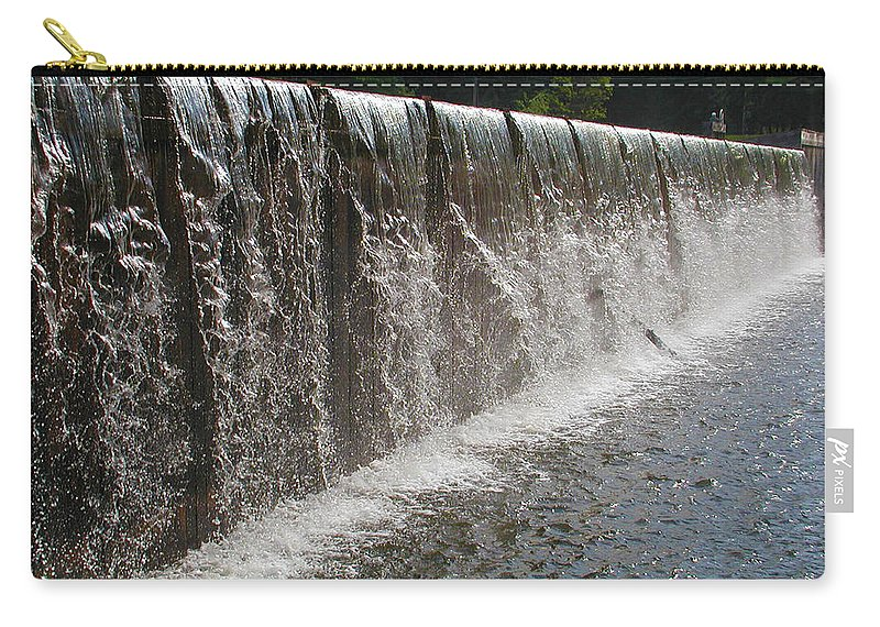 Wall Of Water Carry-all Pouch featuring the photograph Wall Of Water by Bill Cannon