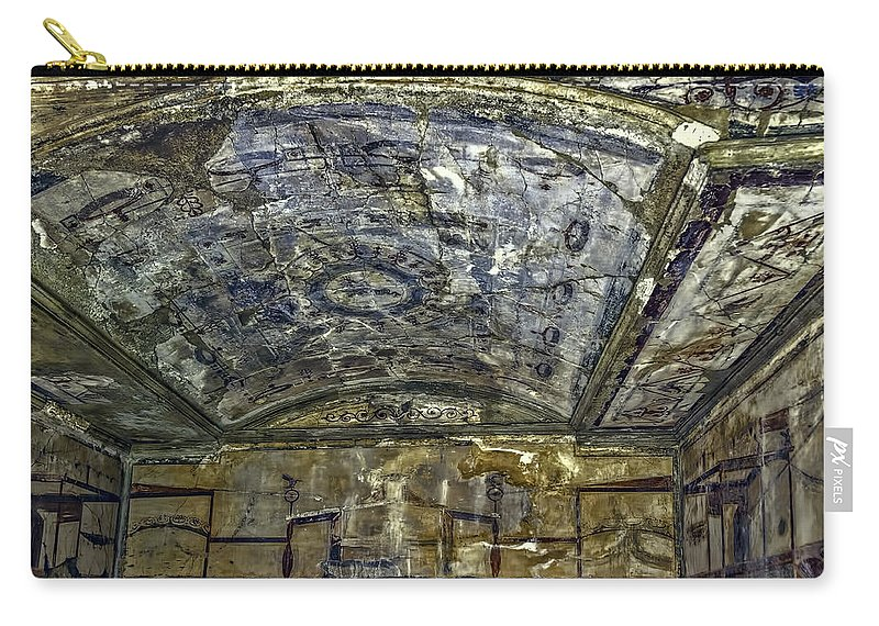 Archeology Carry-all Pouch featuring the photograph Ceiling And Wall Paintings by Maria Coulson