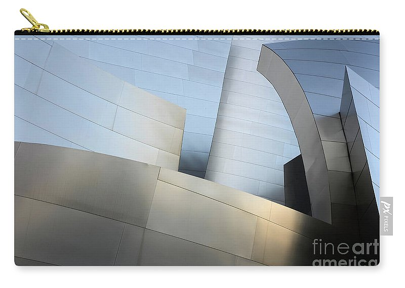 Disney Carry-all Pouch featuring the photograph Walt Disney Concert Hall 1 by Bob Christopher