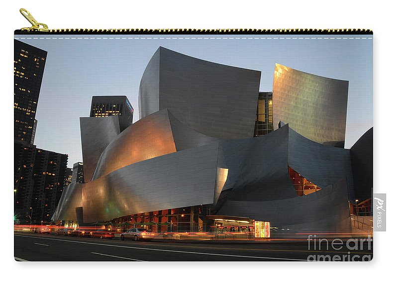 Bob Carry-all Pouch featuring the photograph Walt Disney Concert Hall 21 by Bob Christopher