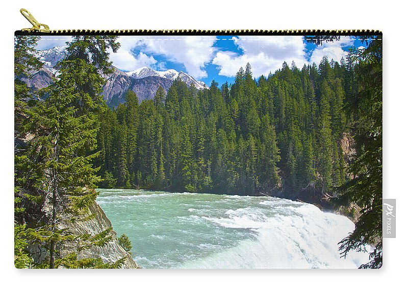 Wapta Falls In Yoho Np Carry-all Pouch featuring the photograph Wapta Falls In Yoho Np-bc by Ruth Hager