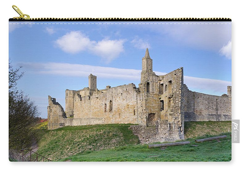 Northumberland Carry-all Pouch featuring the photograph Warkworth Castle Panorama by David Head