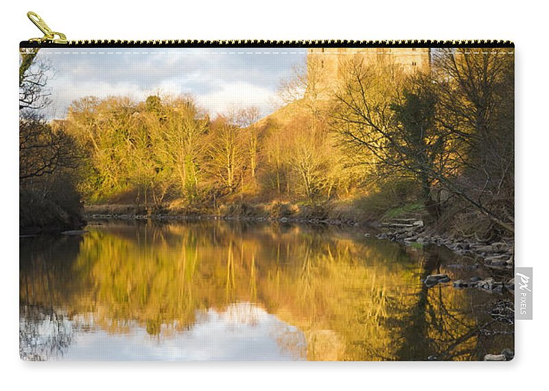 Northumberland Carry-all Pouch featuring the photograph Warkworth Castle Reflected by David Head