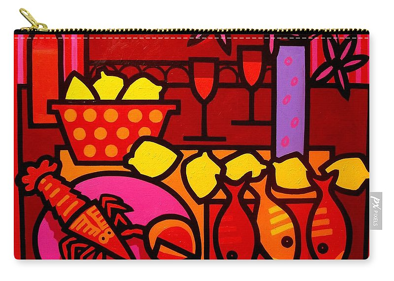 Irish Art Carry-all Pouch featuring the painting Warm Still Life At Window by John Nolan