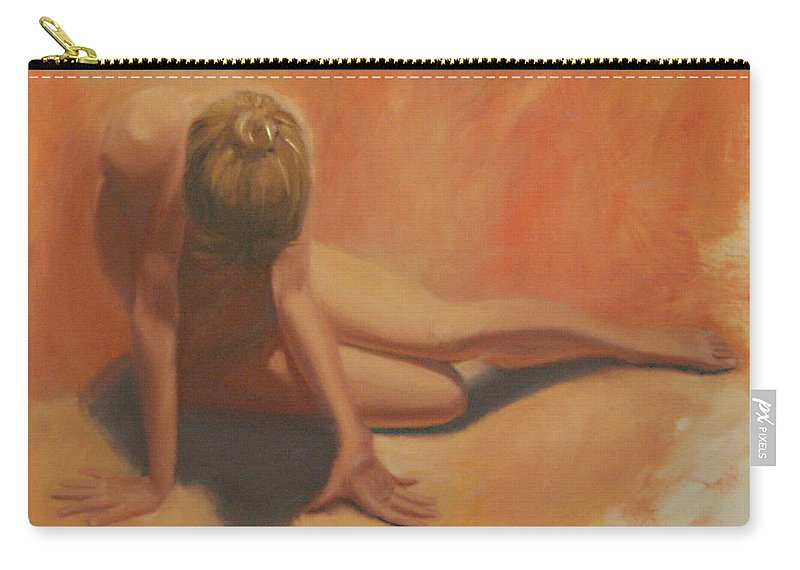 Figurative Carry-all Pouch featuring the painting Warmth by Sarah Parks