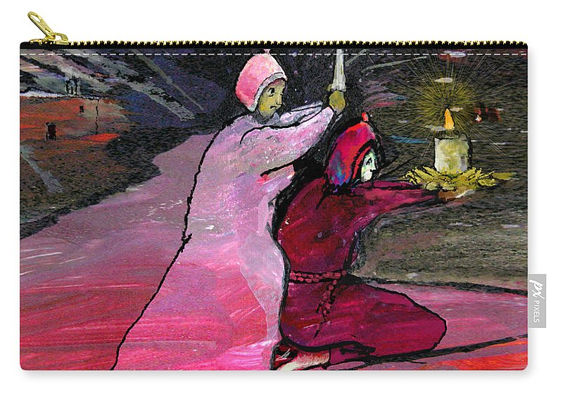 Dream Carry-all Pouch featuring the painting Warriors Of The Light by Miki De Goodaboom