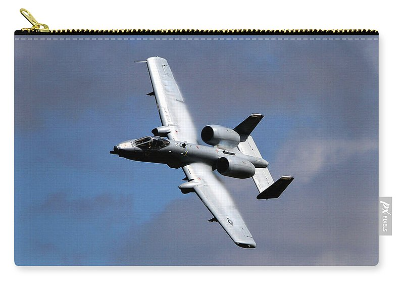 Jets Carry-all Pouch featuring the photograph Warthog by John Freidenberg