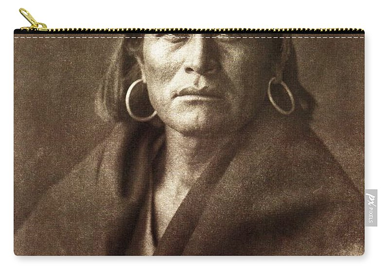 Warze Carry-all Pouch featuring the digital art Warze by Edward Curtis
