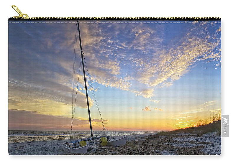 Beach Carry-all Pouch featuring the photograph Washed Ashore by Phill Doherty