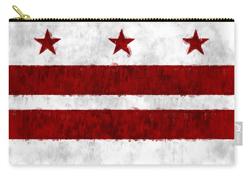 American City Flags Carry-all Pouch featuring the digital art Washington D.c. Flag by World Art Prints And Designs